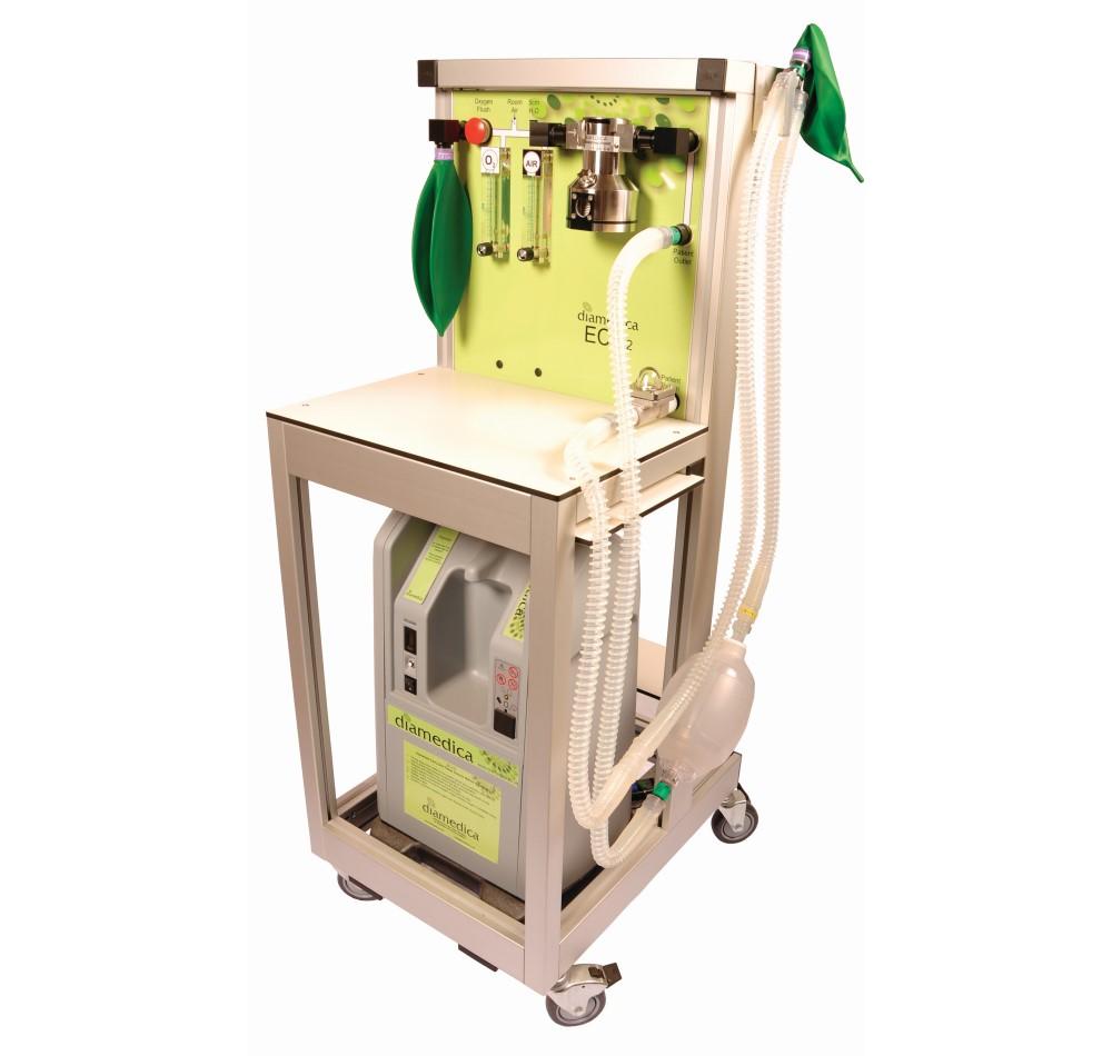 ECO2 Anaesthesia Machine w/manual ventilation