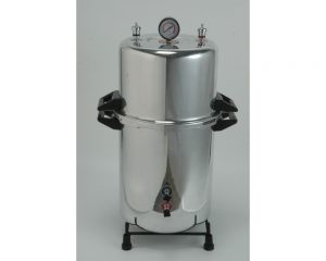"""Portable Autoclave Aluminium (Cooker Type) Size: 14"""" x 21"""" (diameter x height) – 50 Ltr. (Electric)"""