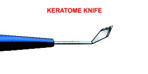 Slit Knife / Keratome 1.4, 1.8, 2.0, 2,2, 2.4, 2.6, 2.75, 2.8, 3.0, 3.2mm, Angled, Bevel-up