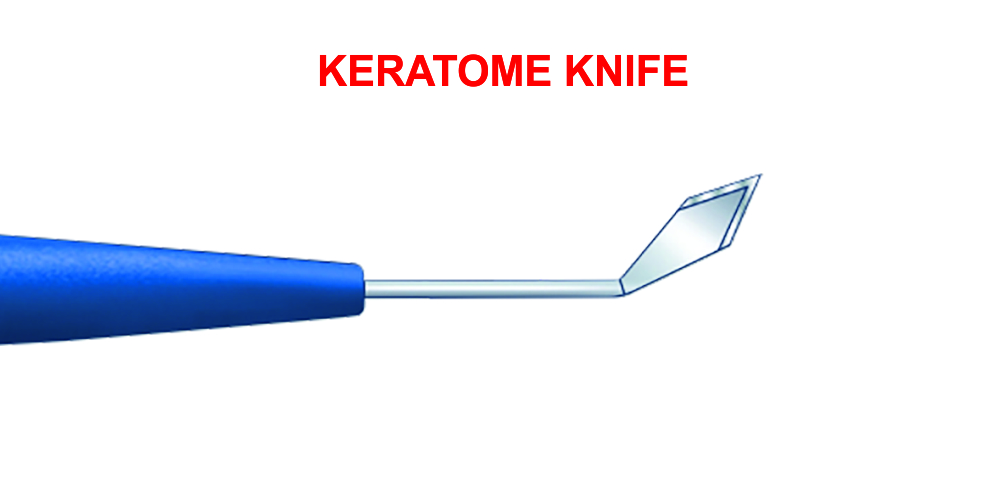 Slit Knife / Keratome 1.4, 1.8, 2.0, 2,2, 2.4, 2.6, 2.75, 2.8, 3.0, 3.2mm, Angled, Bevel-up