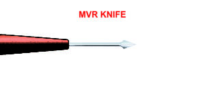 MVR Knife 19. 20, 23 Gauge, Straight