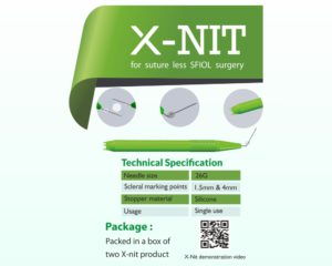 X – Nit – For sutureless scleral fixation surgery