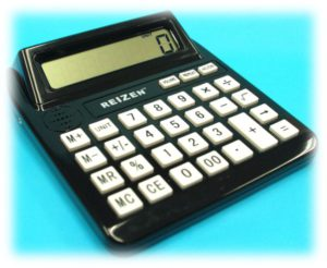 Calculator with large display and talking calculator